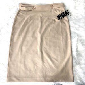 NY & Co tan pencil skirt